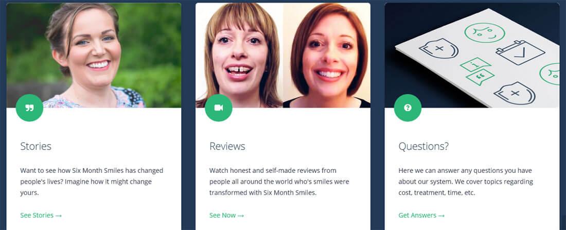 US-Webpräsenz von Six Month Smiles