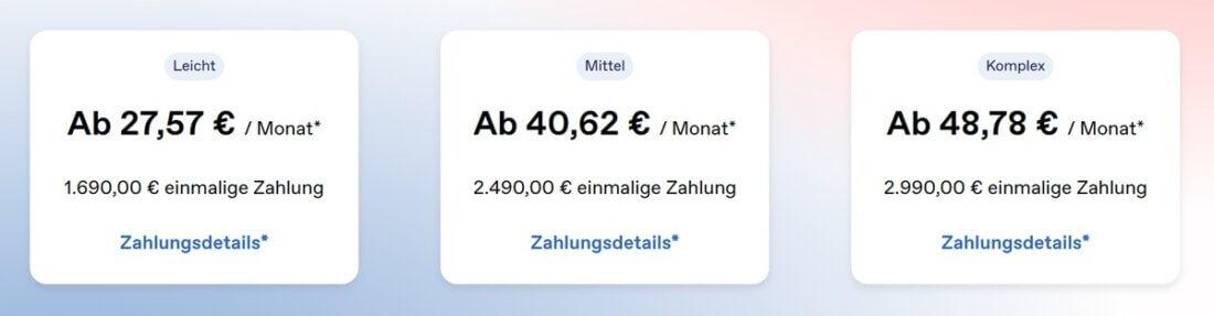 Preise von PlusDental in der Übersicht